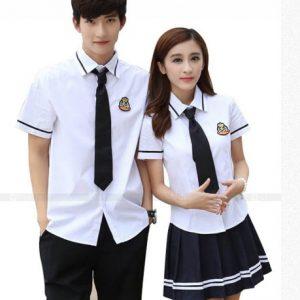 Mẫu đồng phục học sinh cấp 3 phong cách Hàn Quốc