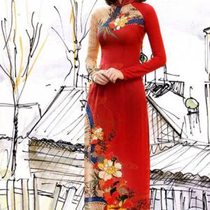 May áo dài 3d, bán vải áo dài 3D tại TP.HCM