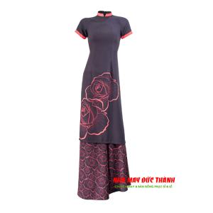 Áo dài 3D tuyệt đẹp (Đen đỏ)